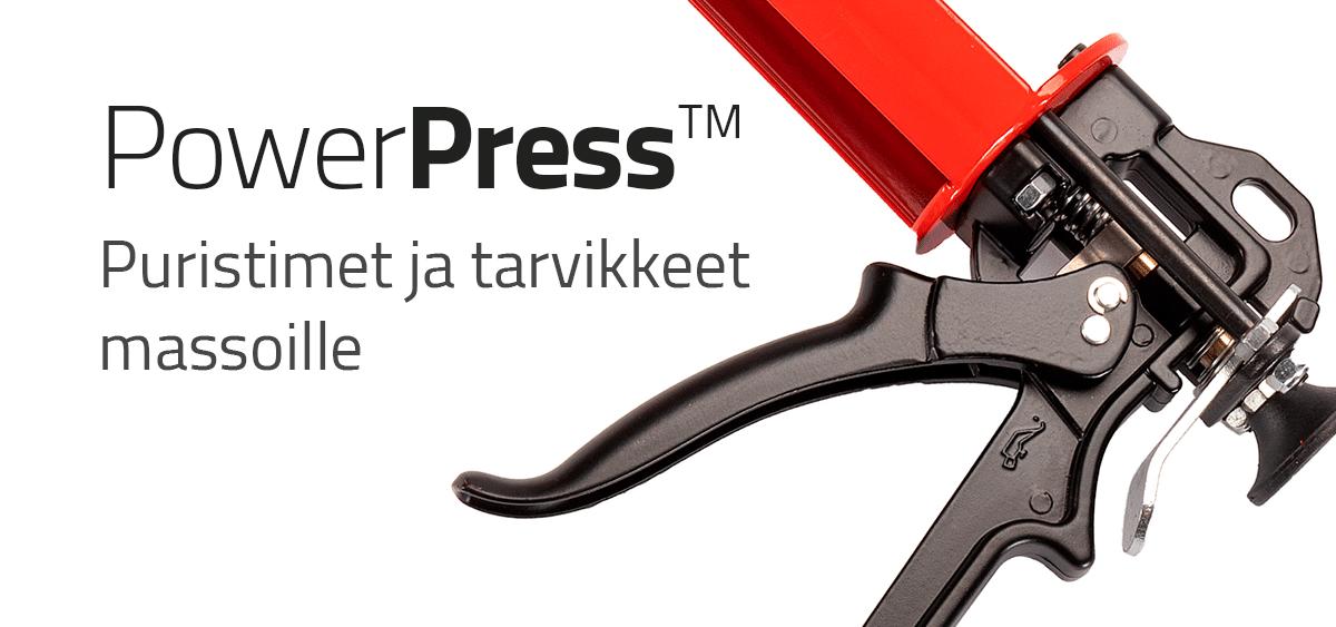 PowerPress - Puristimet ja tarvikkeet massoille